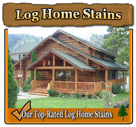 Home log home exterior stains finishes log home exterior for How to stain log cabin