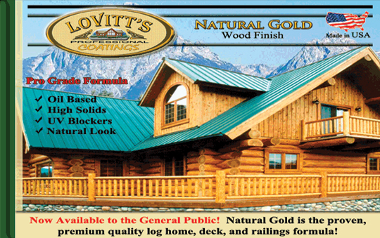 Lovitt S Natural Gold 5 Gallons Wood Finish Log Stains