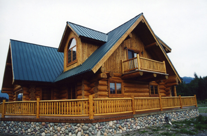How to calculate log home stain?