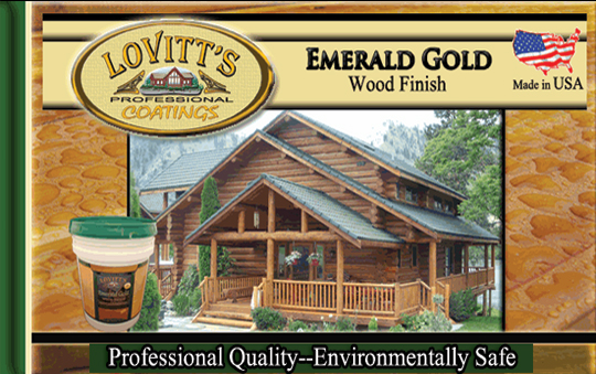 Emerald Gold Log Home Stain
