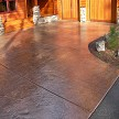 PUR-Gloss is tough and beautiful on stamped concrete
